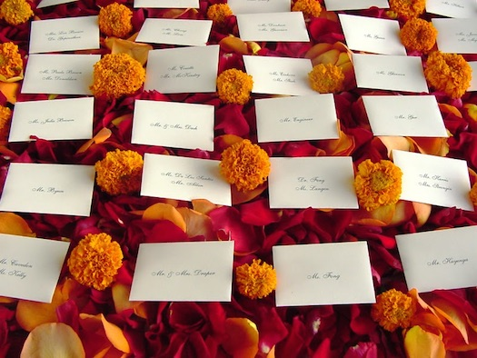 Marigold flowers Indian wedding