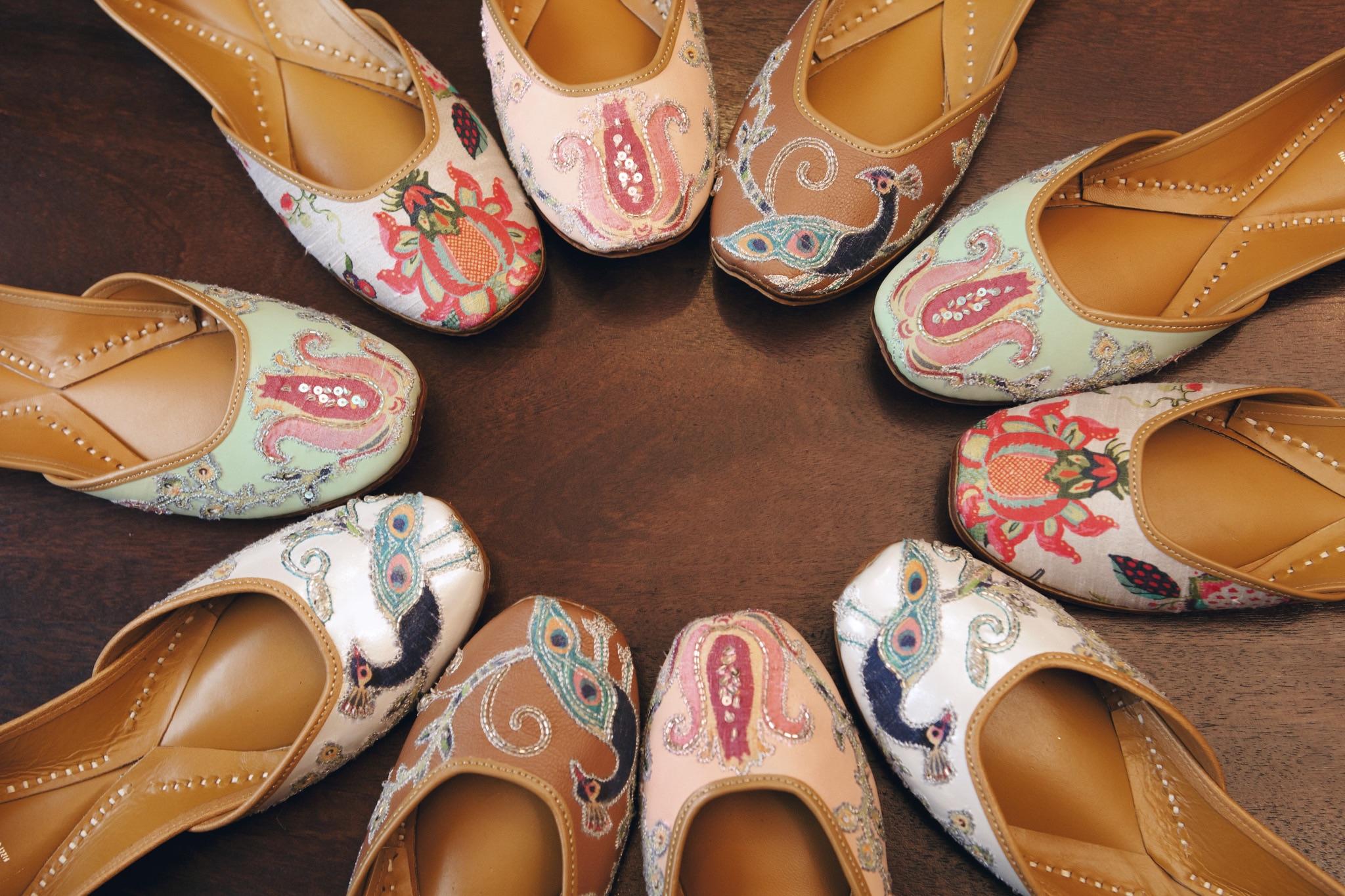 Mendhi footwear for guests in India