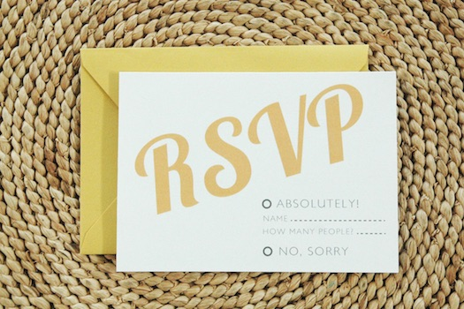 RSVP wedding invites