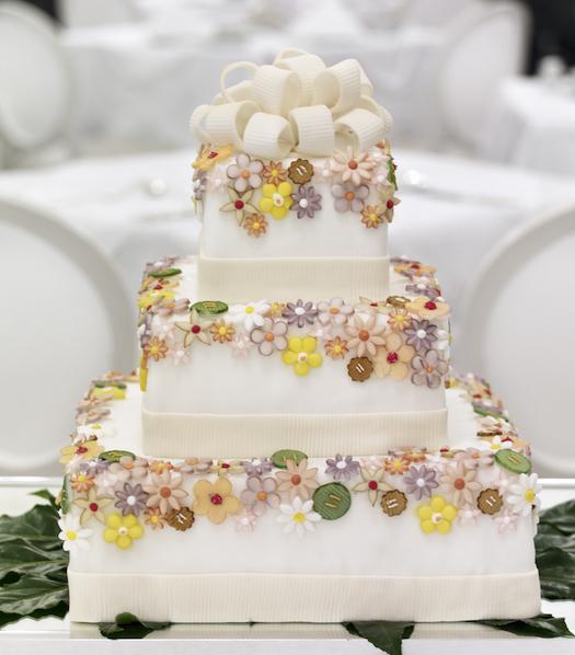 wedding cake at Hotel Sacher Austria