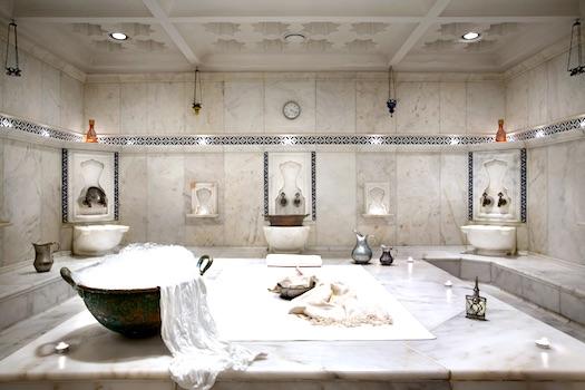 Turkish hamam bath at ciragan palace