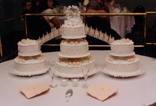 Wedding cake with staircase