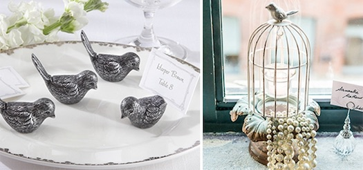 brid themed wedding favors