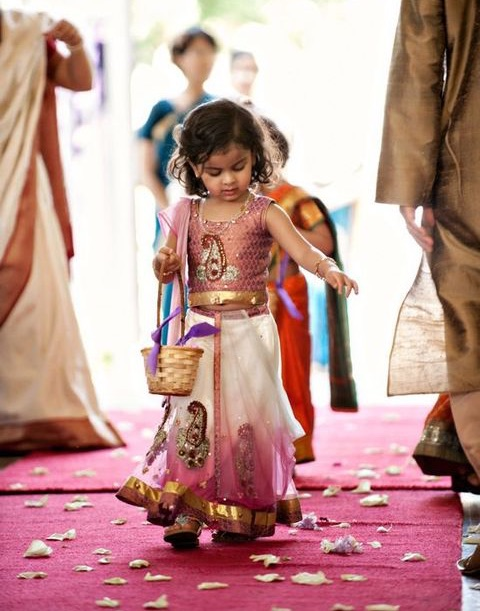 flower girl at Indian wedding