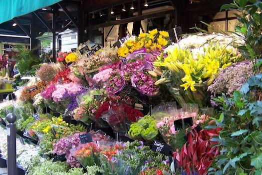 flower market wedding