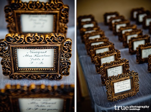 frames at wedding reception