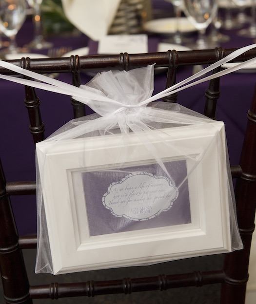 frames used as favors at wedding
