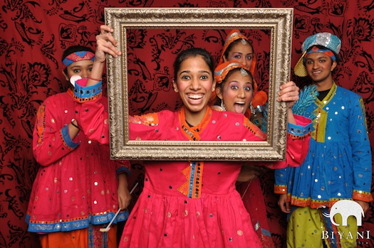 frames used in photobooth at indian wedding