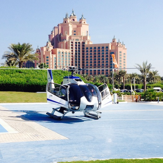 helicopter at Atlantis, The Palm, Dubai