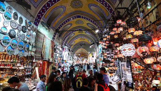 lamps at Grand Bazaar in Istanbul