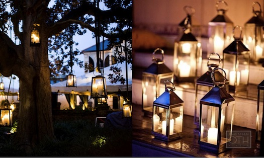 metal lanterns wedding decor