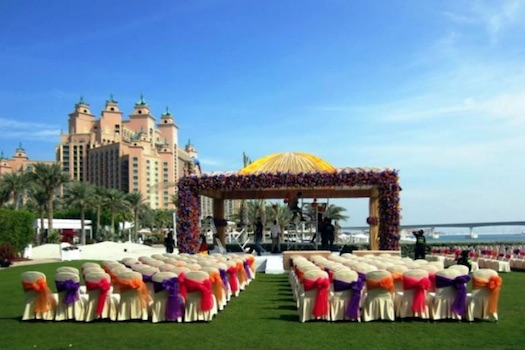 outdoor wedding at Atlantis The Palm Dubai
