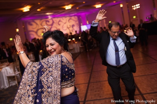 parents at Indian wedding reception