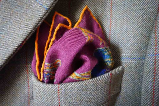 pocket square folds wedding