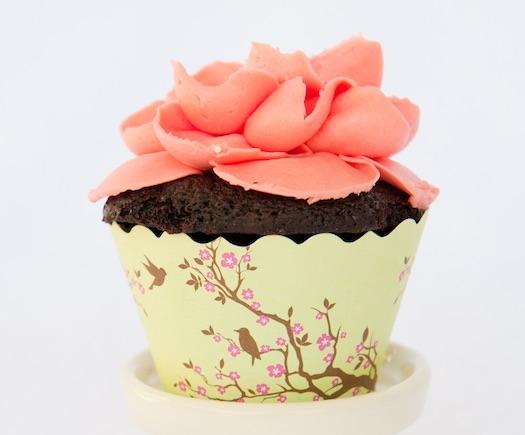 pretty bird themed cupcake holders