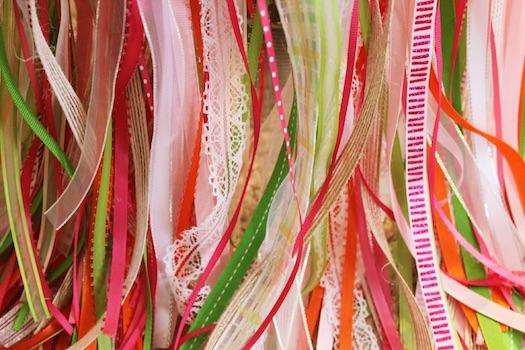 ribbon wands wedding DIY