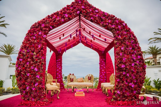 unusual Indian wedding mandap
